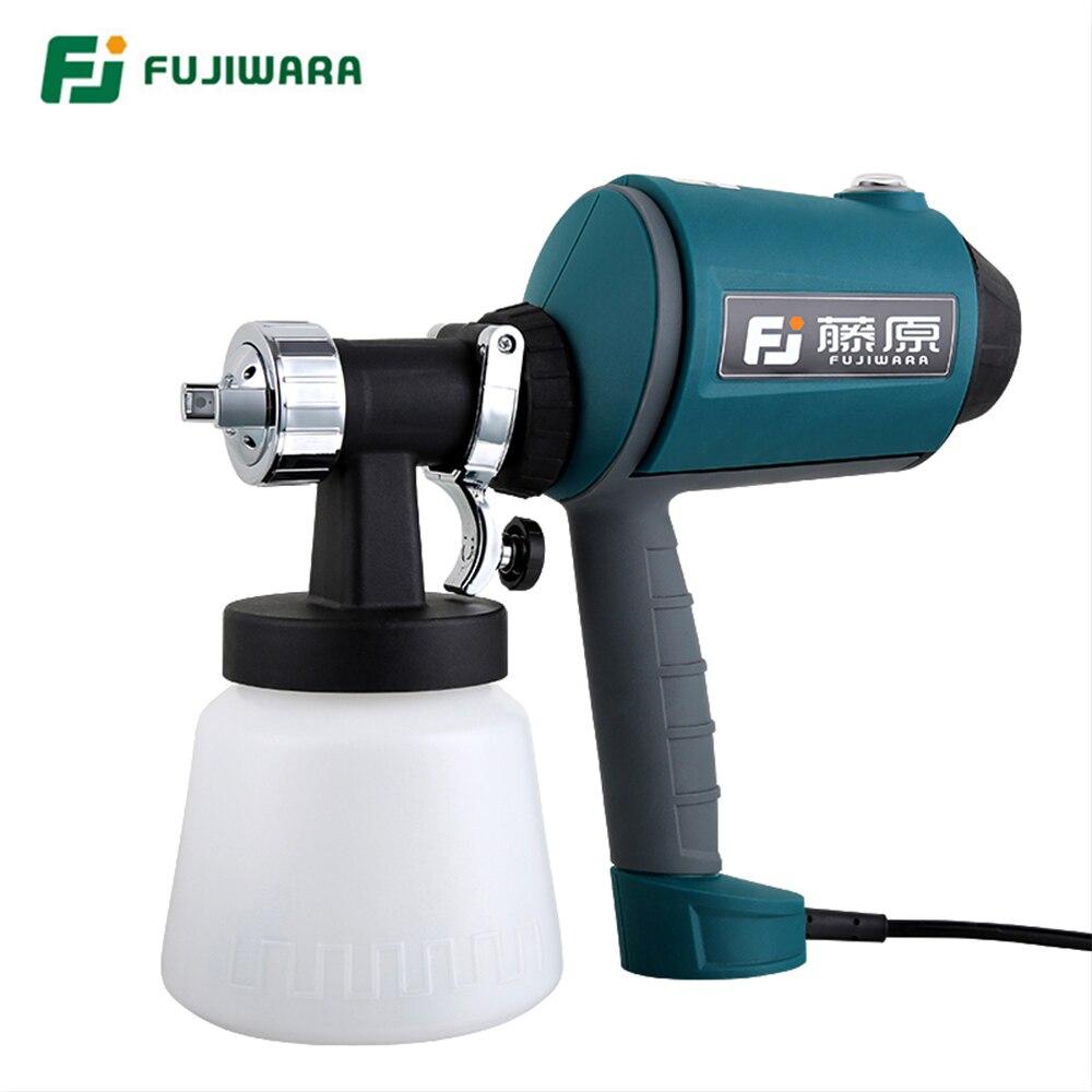 FUJIWARA High pressure Electric Spray Gun High Atomized Paint Coating Sprayer Spray Gun Car Furniture New