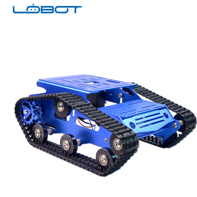 Tracked Vehicle Tank Aluminium Chassis Tracked Vehicle Remote Control Servo Car PlatformTracked Vehicle Tank Aluminium Chassis Tracked Vehicle Remote Control Servo Car Platform
