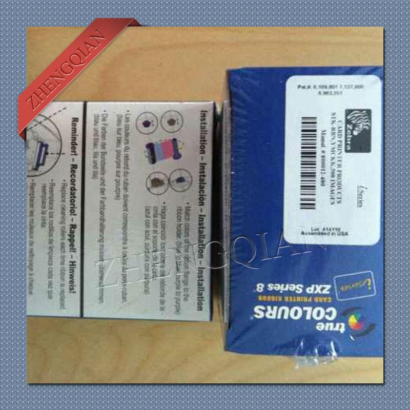 ゼブラ 800012 480 Ymckk カラーリボン 500 プリント使用ゼブラ zxp8 id カードプリンタ -