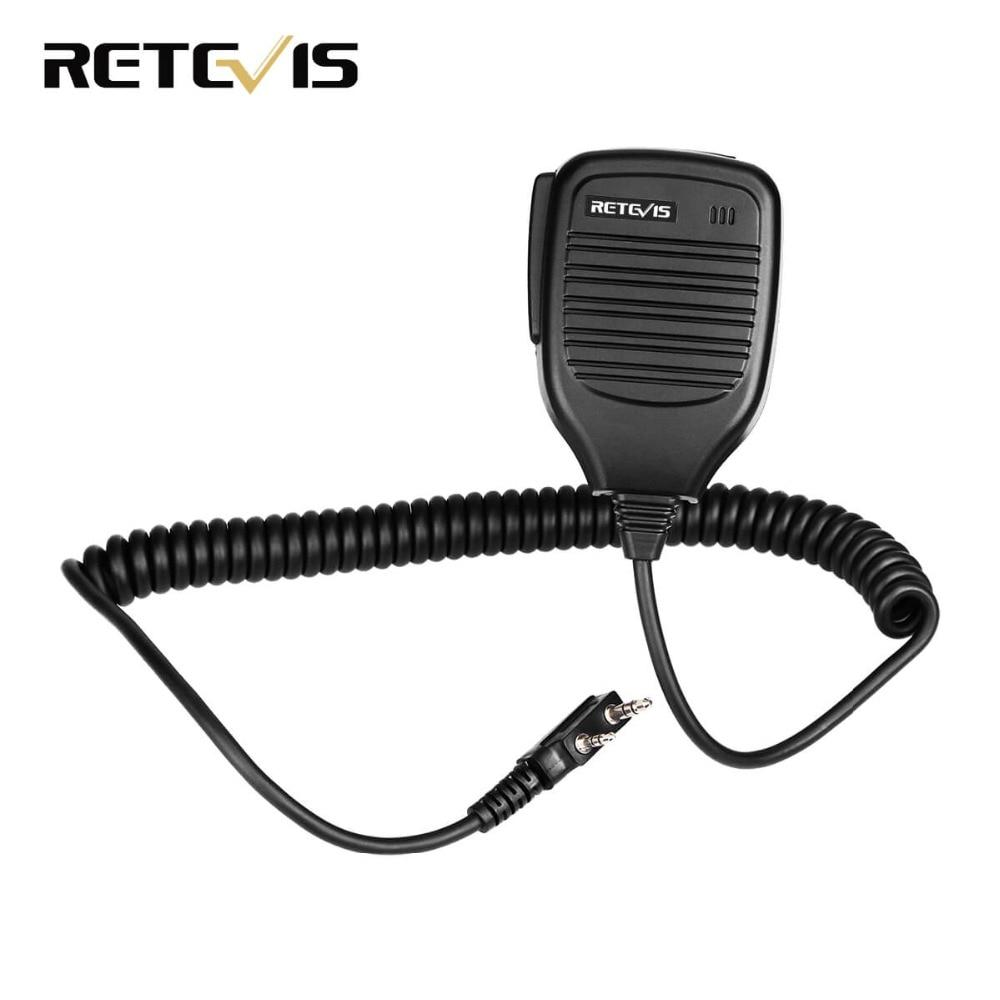 2 Pin PTT Speaker Microfono per Kenwood BAOFENG UV-5R BF-Retevis H777 RT3 RT80 TYT PUXING Radio di Prosciutto Walkie Talkie C9001A