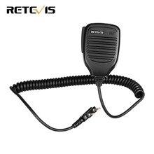 2 Pin PTT Динамик микрофон для Kenwood BAOFENG UV-5R BF-888S Retevis H777 RT3 RT80 TYT PUXING радиолюбителей портативной рации C9001A