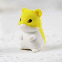 1Pcs Stationery Supplies Kawaii Cartoon Pencil Erasers cute mouse office Correction Kid learning Gifts