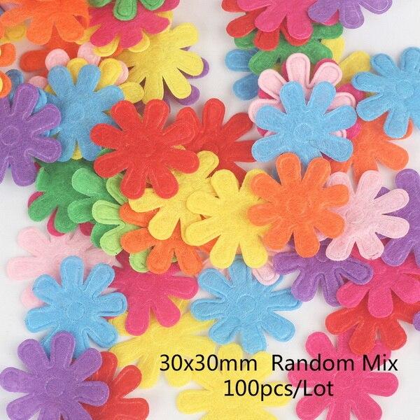 100 шт цветок/Сердце/Бабочка Нетканая фетровая ткань Войлок DIY Набор для шитья кукол скрапбук DIY ремесленные принадлежности - Цвет: Type 11