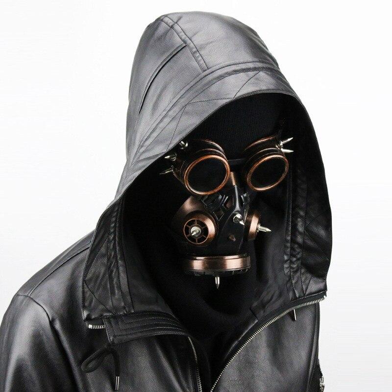 Takerlama unisexe Cool Steampunk militaire lunettes Vintage gaz respirateur masque Halloween fête Cosplay Punk Rock gothique accessoire
