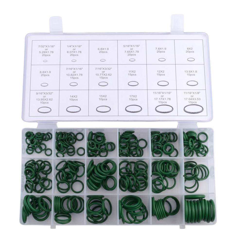 ESPEEDER 270 шт. резиновое уплотнительное кольцо шайба уплотнения кондиционера уплотнительное кольцо шайба комплект зеленый метрическое уплотнительное кольцо уплотнения нитрил