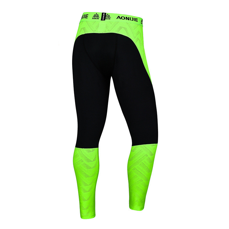 AONIJIE New Mens Running Sport Leggings Quick Dry Breathable Cycling Gym Exercise Compression Tights Jogging Training Pants