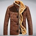 Amarillo verde 2016 abajo cubren diseño corto de calentamiento espesar slim stand ropa de cuello de los hombres chaquetas de invierno para hombre y abrigos M-3XL