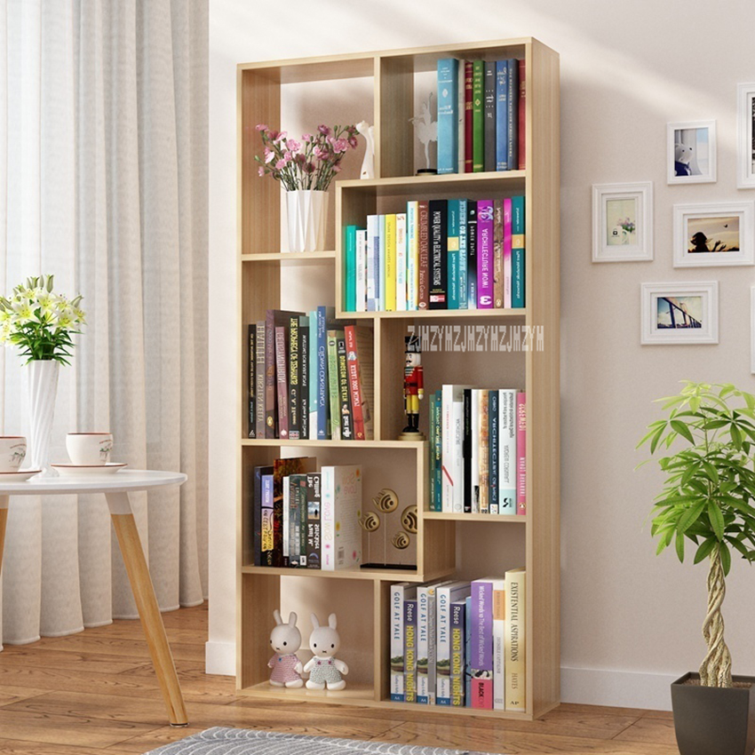 ZY-002 Children Simple Bookshelf Bedroom Modern Students Creative Land  Bookcase Living Room Bookrack Multilayer Storage Cabinet