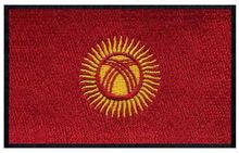 "Kyrgyzstan embroidery flag patch of 3"" wide /brand logo patch/band patches/embroidered number patches(China)"