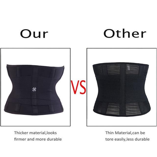 Miss Moly Sweat Waist Trainer Body Shape Shaper Xtreme Power Modeling Belt Faja Girdle Tummy Slimming Fitness Corset Shapewear 5