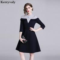 Spring Stripes Princess Women Dress Vetement Femme 2019 Ladies Tshirt Gothic Dress Robe Moulante Dames Jurken K6429