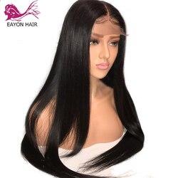 EAYON шелковистые прямые волосы на шелковой основе 5x4,5, парики на полной сетке, человеческие волосы с детскими волосами, предварительно выщипа...