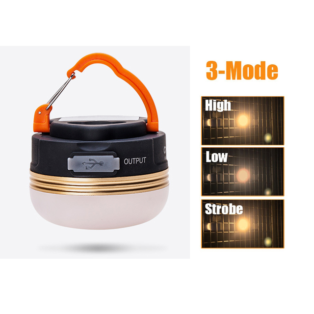 Mini Portable Camping Lights 10W LED Camping Lantern Waterproof Tents lamp Outdoor Hiking Night Hanging lamp USB Rechargeable 2