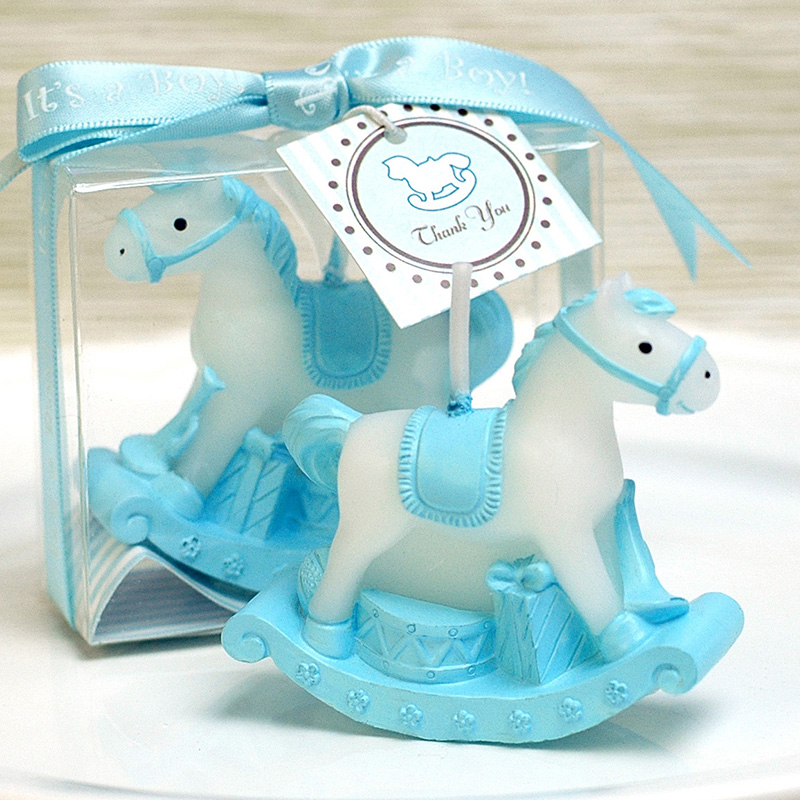 Set of 10 bags baptism and birth with chalk rocking horse confetti for birth Baby shower honeycombs