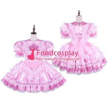 Lockable maid traje cosplay