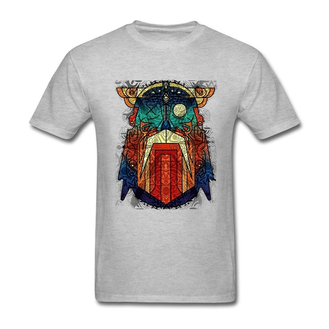 Geometric Modern Odin Vikings T Shirt Big Size Short Sleeve Tshirt Men 2017 New Geek Cotton Funny T-shirts 3