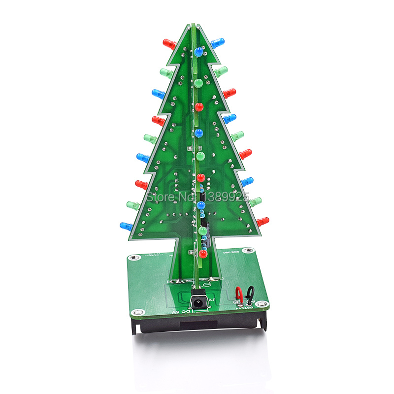 Christmas Tree LED Flash Kit 3D DIY Electronic Learning Kit