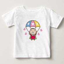 Child T - shirt Parachute Minna no Tabo summer t shirt 2-15Y baby boy and girl Short sleeved T shirt 2018 Newest children Tshirt kadowaki kaoru 2 edition minna no nihongo shokyu i