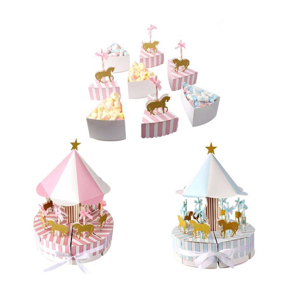 2018 Romantico Carosello di Caramella di Cerimonia Nuziale Bomboniere e Regali Souvenir per Gli Ospiti Bomboniere e Ricordini Contenitore di Caramella Regalo di Decorazioni di Nozze