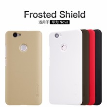 Huawei Nova Case NILLKIN Super Frosted Shield Back Cover For Huawei Nova with Free Screen Protector Film