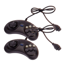 2pcs Classic Wired 6 Buttons SEGA USB Classic Gamepad USB Game Controller Joypad for SEGA Genesis/MD2 Y1301/ PC /MAC Mega Drive все цены