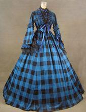 New Civil War Blend Tartan Ball Gown Theater Dress