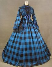 New Civil War Blend Tartan Ball Gown Theater Dress