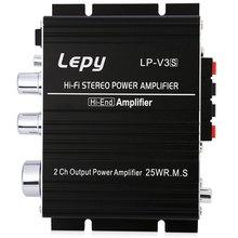 LP – V3 700W 12V Mini Hi-Fi Stereo Digital Power Amplifier MP3 Car Audio Speaker With 3.5mm Audio Input Loudspeakers For Car