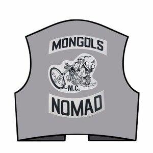Image 3 - Mongols mc colete bordado nomad rocker, jaqueta para motociclistas, motociclista, costas, tamanho traseiro