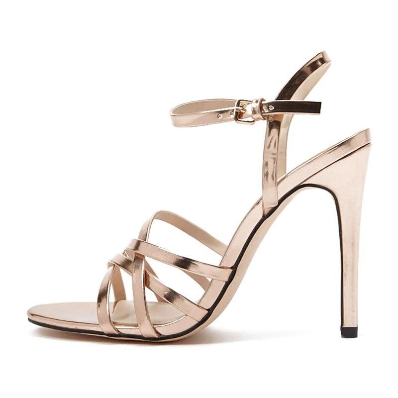 Cheville wrap Base Solide Chaussures Talons De Élégant Boucle Pour Mode 2019 Minces Mûr D'or D'âge Sandales Ty01 Femme Haute Super wqXqOY
