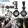 For BMW R1200GS ADV F800GS F700GS F650FS Universal Motorcycle LED Auxiliary Fog Lamp Assembly Driving Headlamp