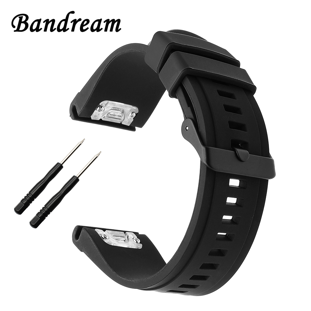 20/22/26mm Quick Easy Fit Silicone Rubber Watchband for Garmin Fenix 5X/5S/5/3/3HR/Forerunner 935 Watch Band Steel Buckle Strap outdoor sport strap for garmin fenix 5 metal band with quick fit stainless steel watchband 22mm width for garmin forerunner 935