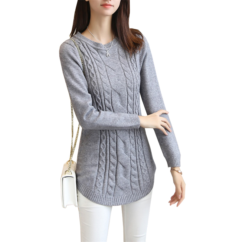 2018 autumn winter women sweater and pullover female long sleeve knitted jumper jersey tricot
