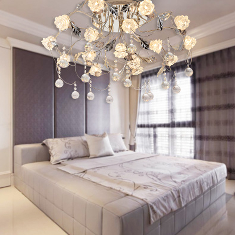 European Luxury Bedroom: T European Style Frosted Crystal Ceiling Light For Living