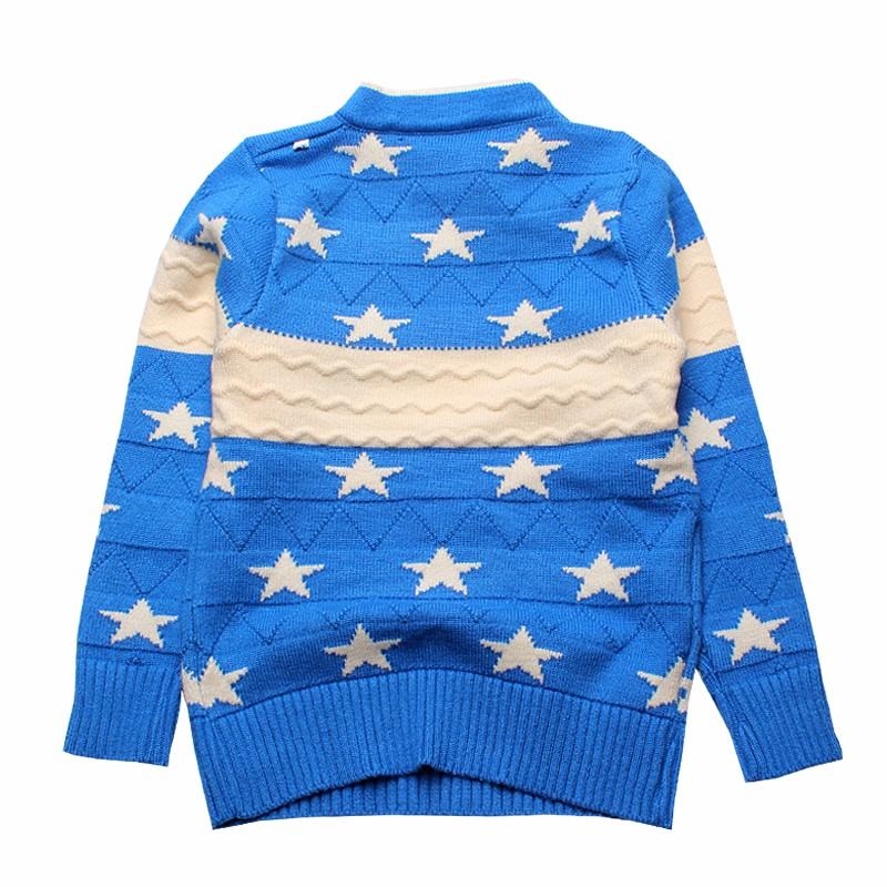 Star Kids Sweaters Cotton Infant Clothes Pullover Print Outfit O Neck Knit Top Autumn Winter Baby Boys Sweater Children Clothing (3)