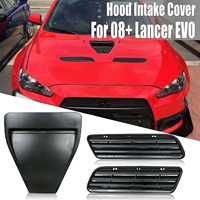 Car Styling ABS Hood Vents Bonnet Hood Scoop Intake Vent Cover Trim For Mitsubishi Lancer GTS EVO 10 X GSR 08 15 Style Hood Vent