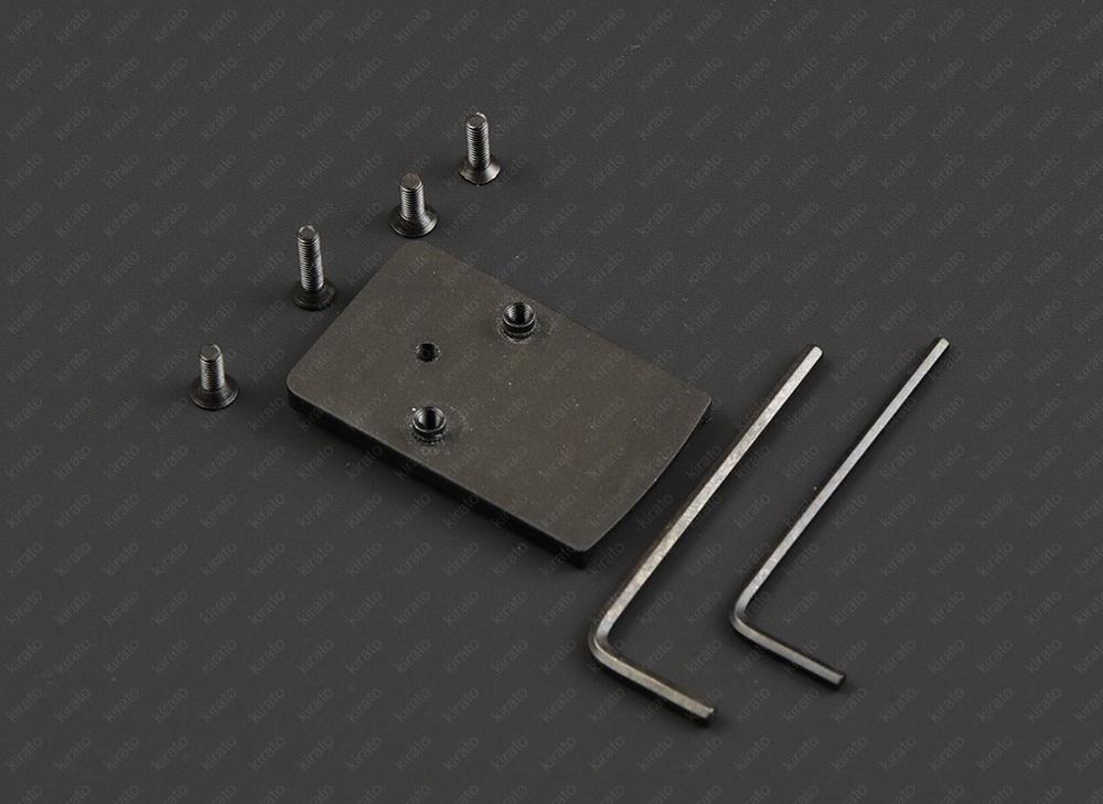 Fit Trijicon Rmr 1x Red Dot Sight Scope Aluminum Alloy Metal Base Glock Pistol Adapter M6107