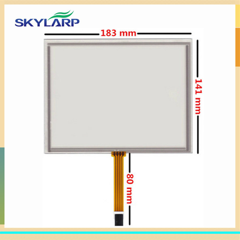 skylarpu 2pcs 8 inch 4 wire Resistive Touch Screen 183mm*141mm for EJ080NA-5A AT080TN52 V.1 Industrial equipment Digitizer panel 8 inch 8 wire resistance handwritten touch screen amt98466 184 141 free shipping
