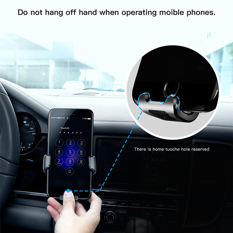 Image 5 - Baseus Gravity Car Holder For iPhone Samsung Cell Mobile Phone Holder 360 Degree GPS Air Vent Mount Clip Car Phone Holder Stand-in Phone Holders & Stands from Cellphones & Telecommunications on