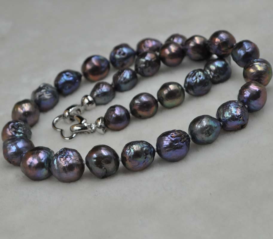 11-14mm Baroque Kasumi Freshwter perle collier 45 cm livraison gratuite diverses couleurs