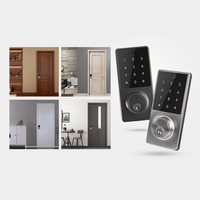 Dropshipping Phone APP Control Office Apartment Home Anti Theft Smart Touch Pad Code Lock Security Entry Password Door Lock