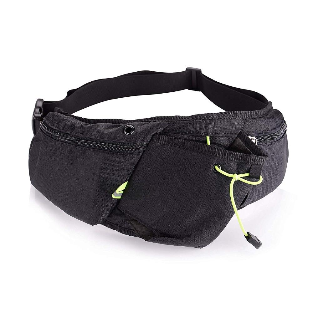 Jeebel Nylon Running Belt Waist Pack With Bottle Men's Phone Bag Women Jogging Sport Pouch Waterproof  for Phone
