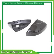 цена на For Audi A3 S3 2014 2015 2016 - UP Replacement style Carbon Fiber/Matt Chrome Rear View Mirror Cover without Turn Light Signal