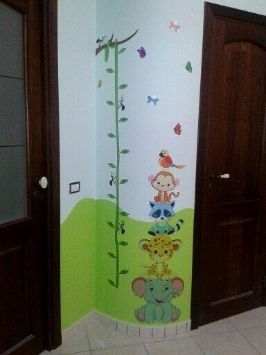 Cute Jungle Animals Growth Chart