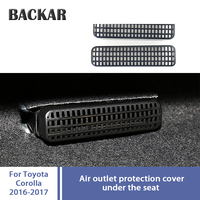 Backar 2pcs For Toyota Corolla Accessories 2014 2015 2016 2017 2018 Car Seat Air Conditioner Air Outlet Protective Covers
