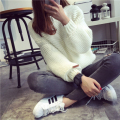 Women Sweater Thick Coarse Wool Knitted Lantern Sleeve Tops Fashion Casual For Spring Autumn Winter Knitted Pullover Sweater