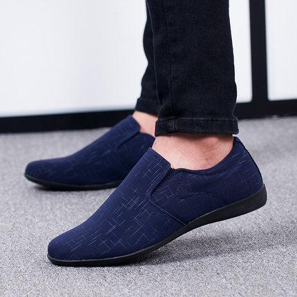 on Chaussures Mocassins brown Pour Plates Nouveau Black Qualité blue Hommes Décontractées Slip Toile Supérieure De Zapatillas 2019 D'été Hombre Mode m0vynwN8O