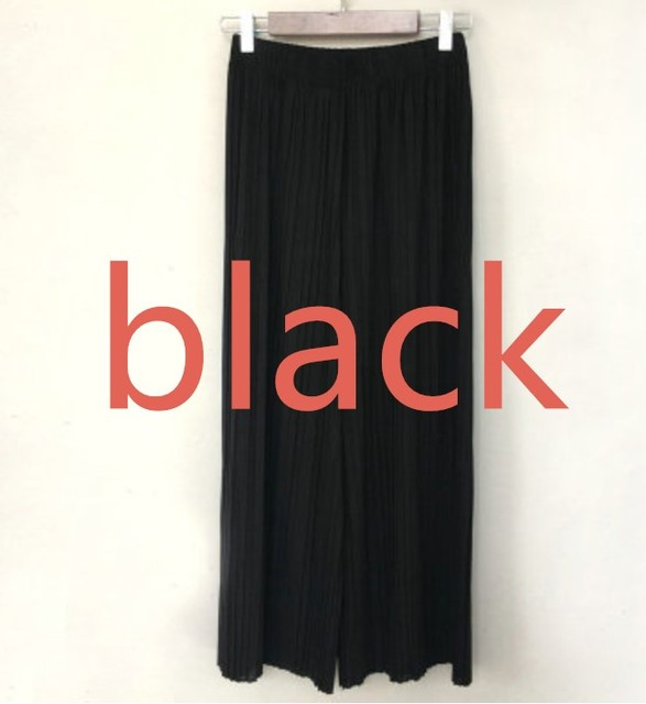 17 Summer Female Wrinkle High Waist Loose Thin Section Wide Range Of Chiffon Legs Long Leg Pants Korean Pant Fashion Sexy 8 Co  by Colorful Float