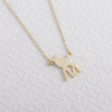 Elegant bambi small deer necklaces pendants handmade statement jewelry christamas gift for women discount(China)