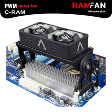 Alseye ram cooler вентилятор охлаждения оперативной памяти кулер с двумя 60 мм pwm вентилятор 1500-4000 об./мин. радиатор для ddr2/3/4/5 охлаждения
